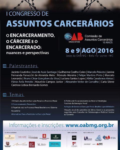 I Congresso de Assuntos Carcerários da OAB-MG 2