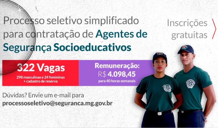 Interessados em se candidatar para uma vaga de agente de segurança  socioeducativo podem se inscrever para a seleção entre os dias 5 e 6 de  novembro. fc5bb37545cbe